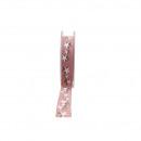Ruban Kea tissé largeur 25mm, longueur 15m, rose p